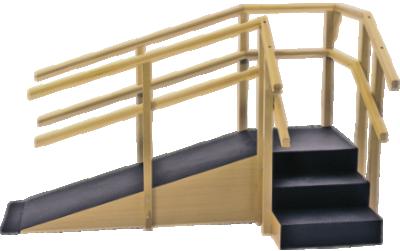 escada de canto